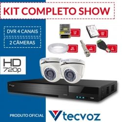 Kit Tecvoz Completo em Alta Definição - 2 câmeras int/ext HD