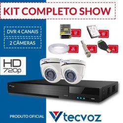 Kit Tecvoz Completo em Alta Definição - 2 câmeras internas HD