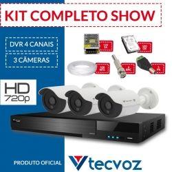 Kit Tecvoz Completo em Alta Definição - 3 câmeras HD