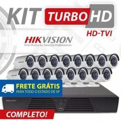 Kit Turbo Hd Hikvision Alta definição 16 Canais - Recomendado!