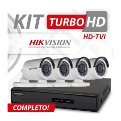 Kit turbo hd hikvision alta definição 4 canais - recomendado!