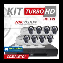 Kit turbo hd hikvision alta definição 8 canais - recomendado