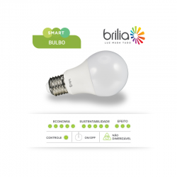 Lâmpada de Led Smart Bulbo Brilia A60 - 9w