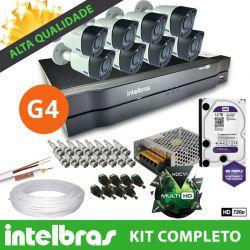 Mega Kit Essencial Intelbras Completo Alta definição 8 Câmeras - Resolução Máxima