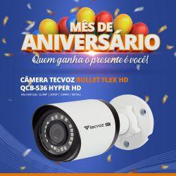 Mês de Aniversário - Câmera Tecvoz Bullet Flex HD QCB-536 Hyper HD (5.0MP | 2048p | 3.6mm | Metal)