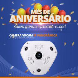 Mês de Aniversário - Câmera VRCAM IP Panorâmica Alta Definição (1.3MP | 960p | 360º | Plast)