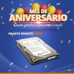 Mês de Aniversário - HD Sata Seagate 500GB