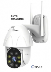 Mini Speed Dome IP Inova Auto-Tracking Full HD CAM-5707 (2.0MP | 1080p | Wi-Fi | IP66 | Plást)