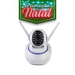 NATAL CFTV CLUBE - Câmera Robozinha IP Sem Fio Wireless HD - Alta Definição