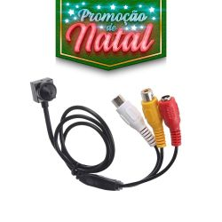 NATAL CFTV CLUBE - Micro Câmera Camuflada Pinhole (650TVL | 1/4 | 3.6mm)