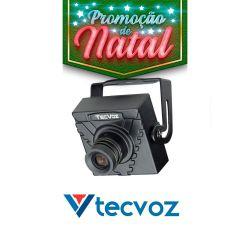 NATAL CFTV CLUBE - Mini Câmera Tecvoz (420TVL | 1/3 | 3.6mm)