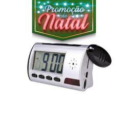 NATAL CFTV CLUBE - Relógio espião com câmera camuflada - MicroSD 8gb