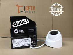 Outlet - Câmera Giga GS0026 Dome Open HD Sony Exmor IR 20M UTC DWDR (2.0MP | 1080p | 3.6mm | Plast)