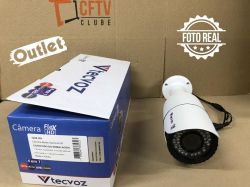 Outlet - Câmera Tecvoz Varifocal com Zoom Flex HD QCB-20v Full HD (2.0MP | 1080p | 2.8mm~12mm | Metal)