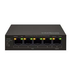Switch Intelbras 5 Portas Fast c/ 4 Portas SF 500 PoE