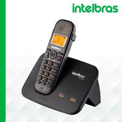 Telefone Sem Fio Intelbras TS 5150 - Identificador de Chamada Conferência Preto
