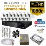 Kit tvz tecvoz 16 câmeras full hd - serie p3016