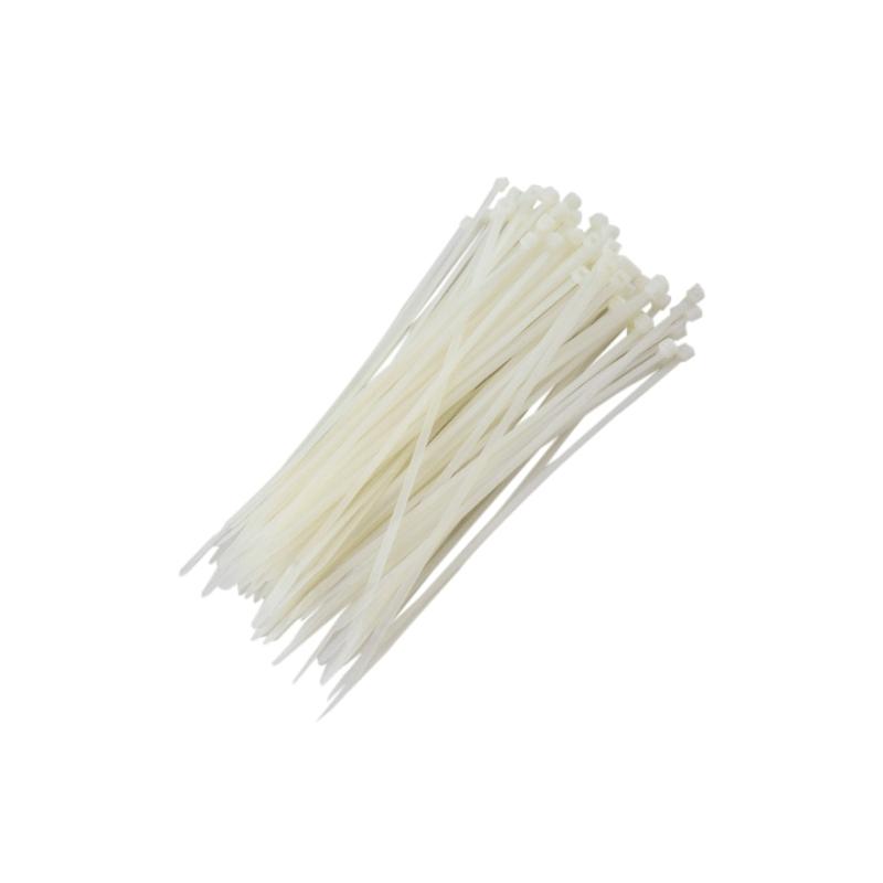 Abraçadeiras de Nylon para Lacre 3,6mm x 200mm - Branca (100 Unidades)  - CFTV Clube | Brasil