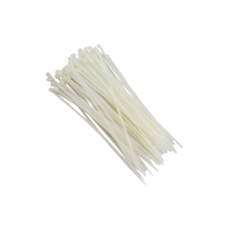 Abraçadeiras de Nylon para Lacre 3,6mm x 200mm - Branca  - CFTV Clube | Brasil