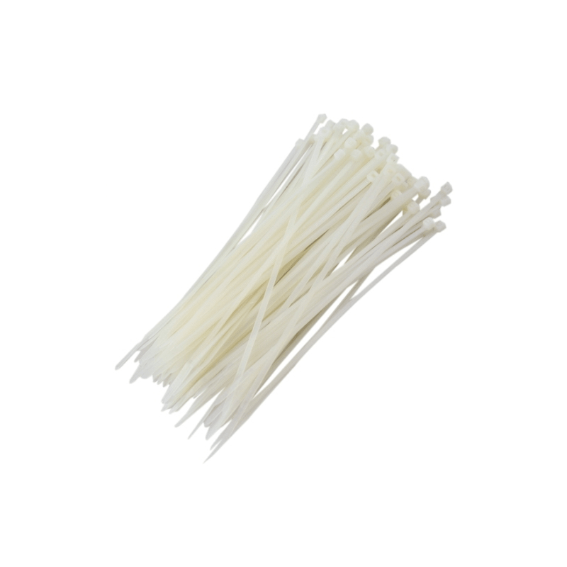 Abraçadeiras de Nylon para Lacre 4,0mm x 200mm  - Branca (100 Unidades)  - CFTV Clube | Brasil