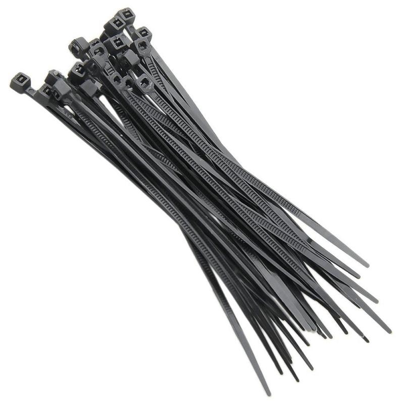 Abraçadeiras de Nylon para Lacre 2,5mm x 200mm - Preto 100 Unidades  - CFTV Clube | Brasil