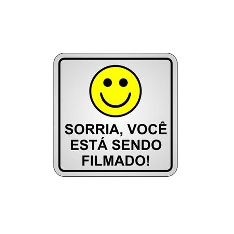 Placa de Alumínio Sorria Você Está Sendo Filmado  - CFTV Clube | Brasil