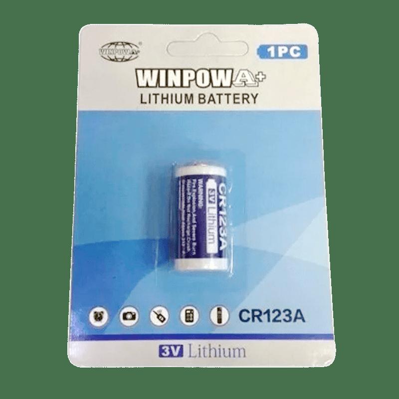 Bateria Cr123a 3v Winpow - Unidade  - CFTV Clube | Brasil