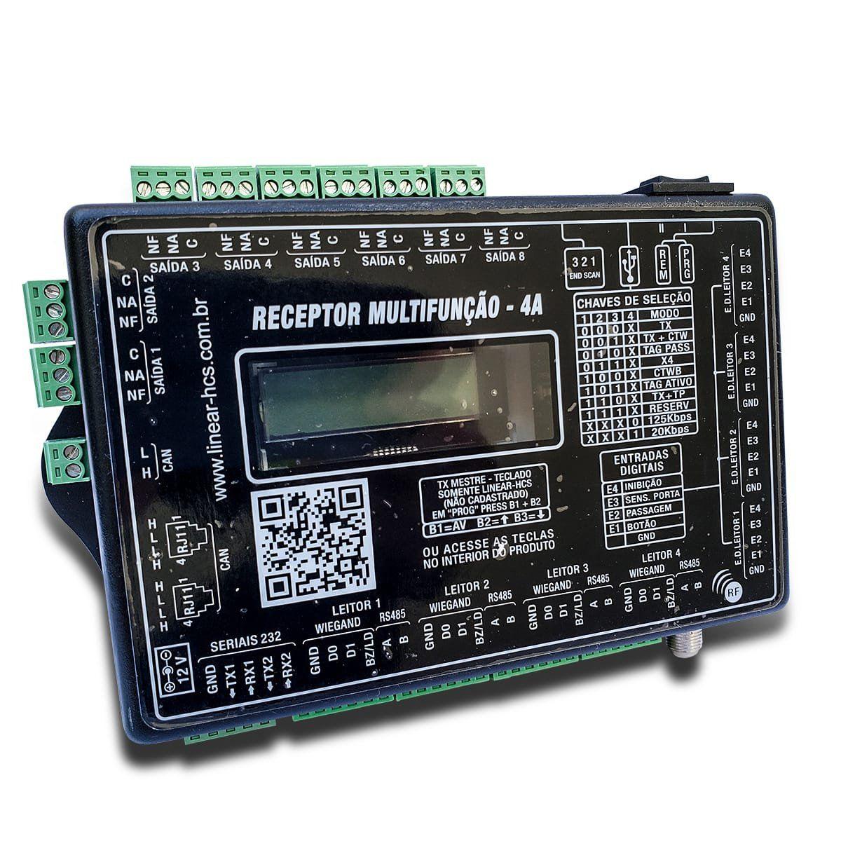 Receptor Linear Multifunção 4A  - CFTV Clube | Brasil