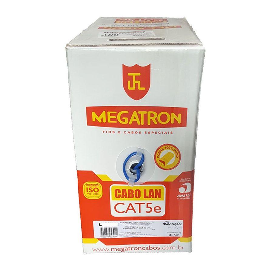 Cabo de Rede Cat5e Megatron Blindado - 305m  - CFTV Clube | Brasil
