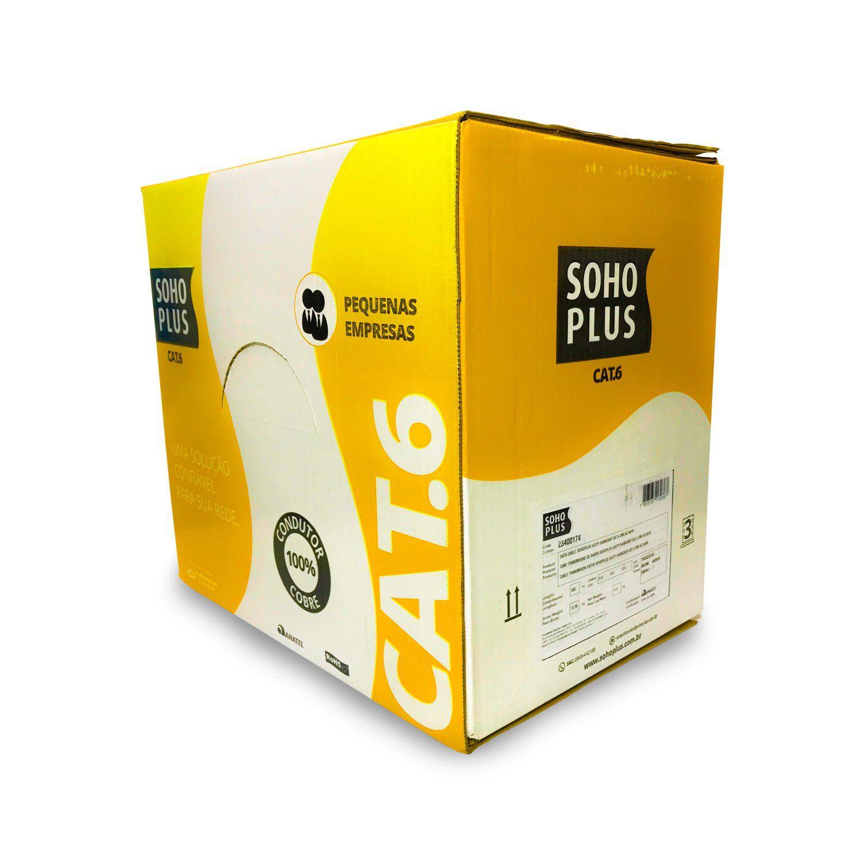 Cabo de Rede Cat6 Furukawa Soho Plus - Caixa 305 Metros  - CFTV Clube | Brasil