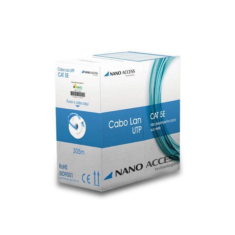 Cabo de Rede Par Trançado Cat5 Nano Access - Caixa 305 Metros  - CFTV Clube | Brasil