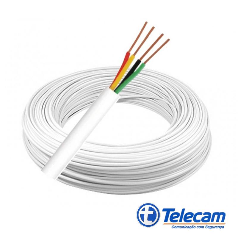 Cabo para Alarme e Interfone - 4 x 40 (4 Vias de 0,40mm) - Telecam  - CFTV Clube | Brasil