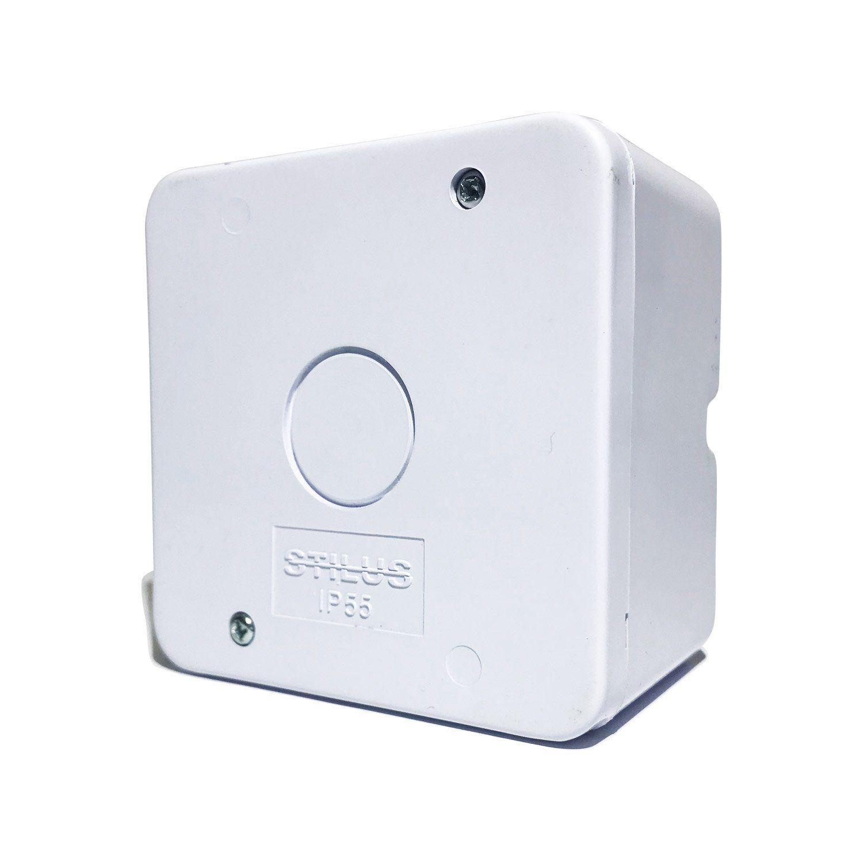 Caixa de Sobrepor para Acoplamento de Conectores Stilus  - CFTV Clube | Brasil