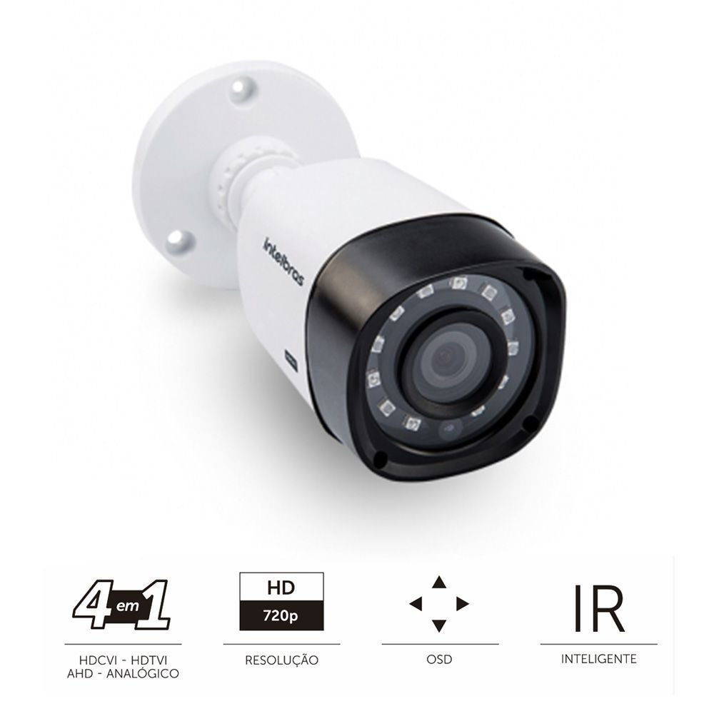 Câmera Intelbras 1010b g3 1.0 megapixel 720p - Bullet  - CFTV Clube | Brasil