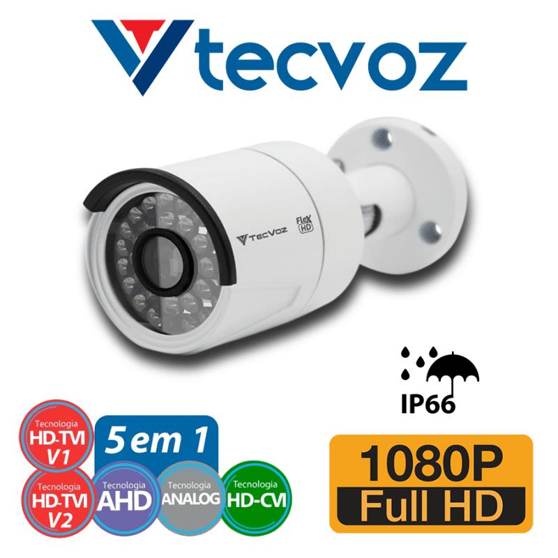 Câmera Tecvoz Bullet Flex HD QCB-236 Full HD (2.0MP | 1080p | 3.6mm | Metal)  - CFTV Clube | Brasil