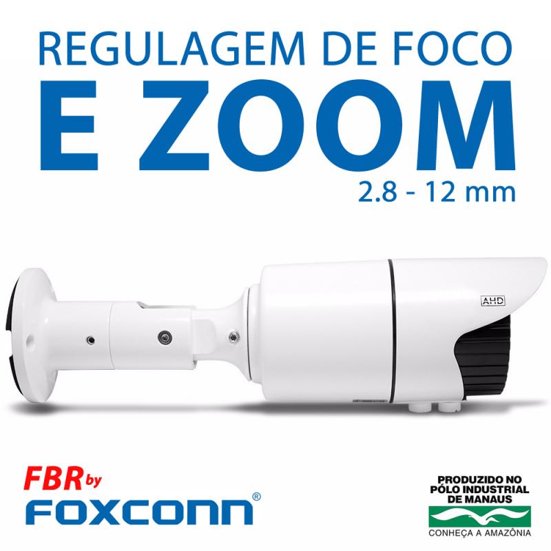 Câmera FBR Focusbras Varifocal com Zoom AHD FA-MBV1M Alta Definição (1.0MP | 720p | 2.8mm~12mm | Metal)  - CFTV Clube | Brasil