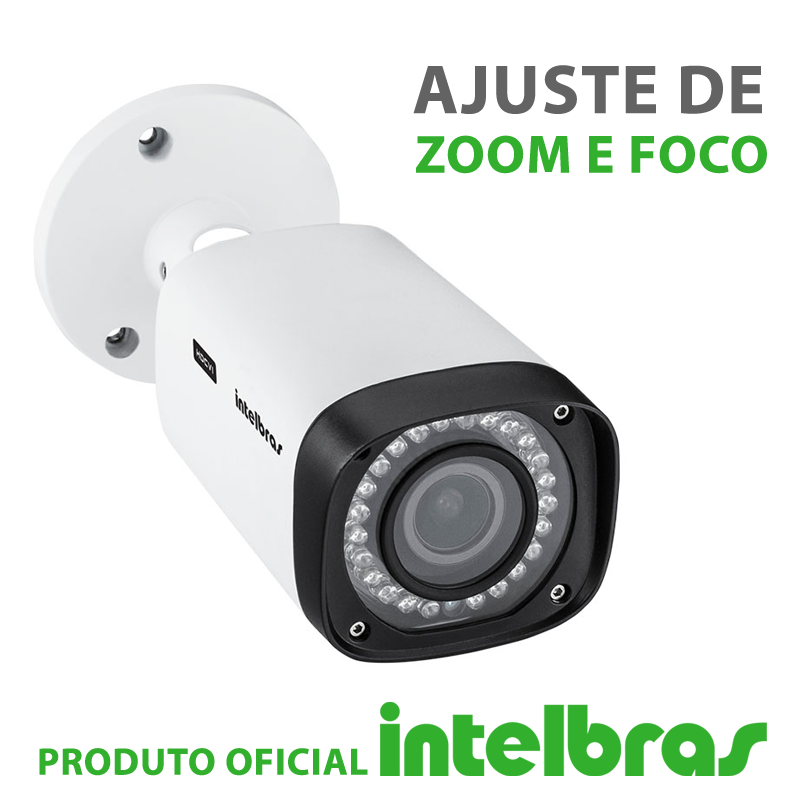 Câmera Intelbras Varifocal com Zoom Multi HD 3140VF G4 Alta Definição (1.0MP | 720p | 2.7mm~13.5mm | Metal)  - CFTV Clube | Brasil