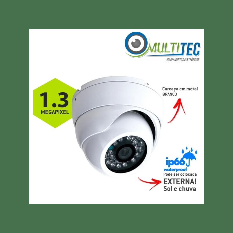 Câmera Multitec Dome AHD-M 1.3 Megapixel Externa Alta Definição (1.3MP | 960p | 2.8mm | Metal)  - CFTV Clube | Brasil