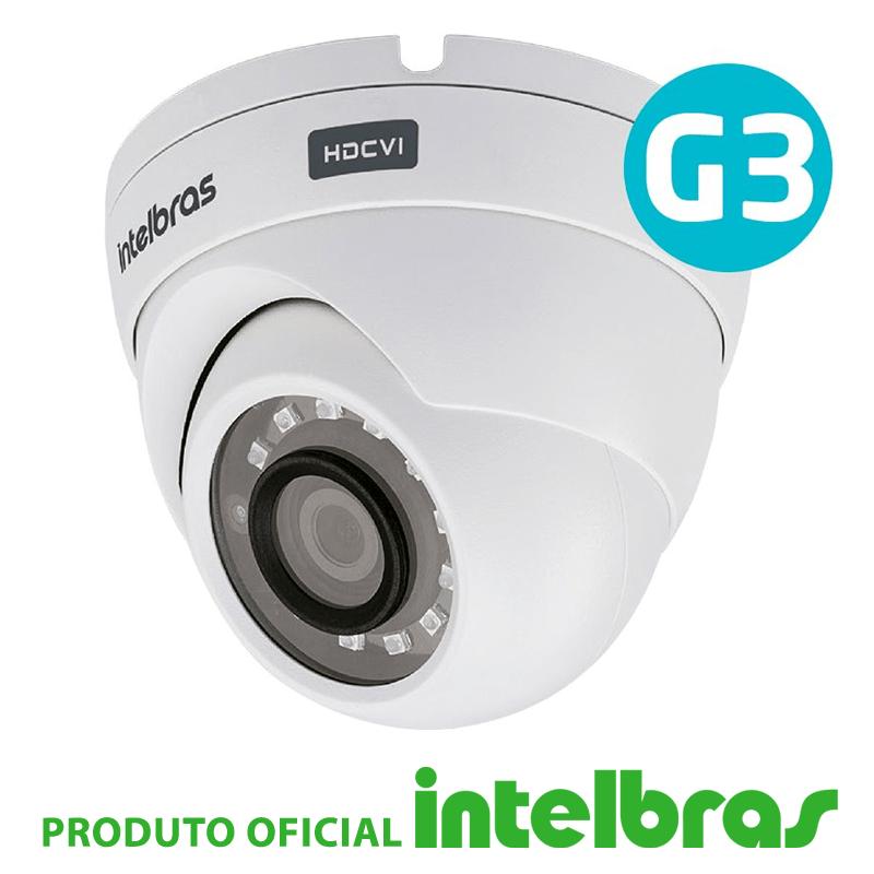 Câmera dome intelbras full hd 1220d g3 multi hd  - CFTV Clube | Brasil