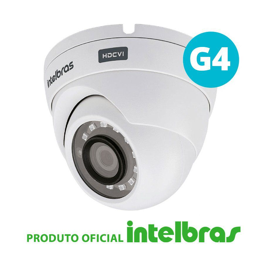 Câmera dome intelbras full hd 1220d g4 multi hd  - CFTV Clube | Brasil
