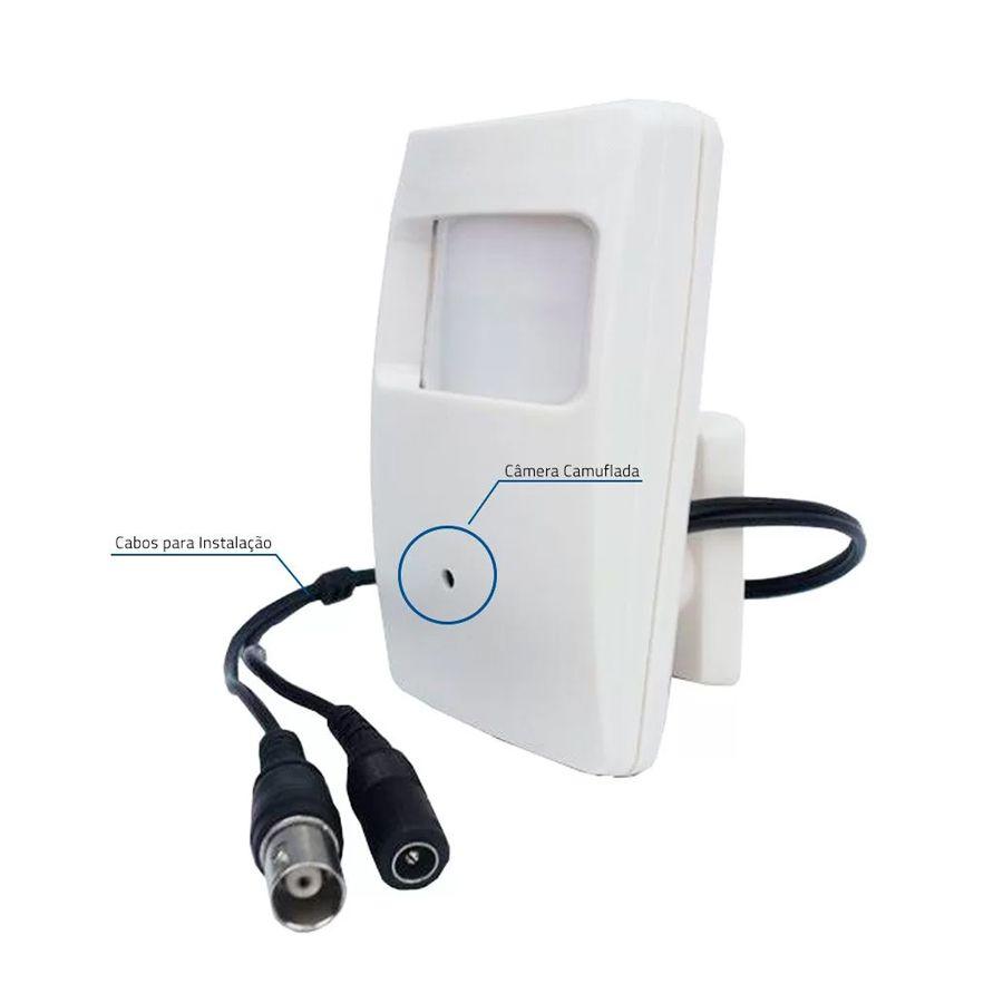 Câmera Escondida/Camuflada Tipo Sensor De Alarme - AHD 720p  - CFTV Clube | Brasil