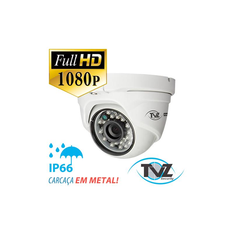 Câmera TVZ Dome Flex HD 4DM2 Full HD (2.0MP | 1080p | 2.8mm | Metal)  - CFTV Clube | Brasil