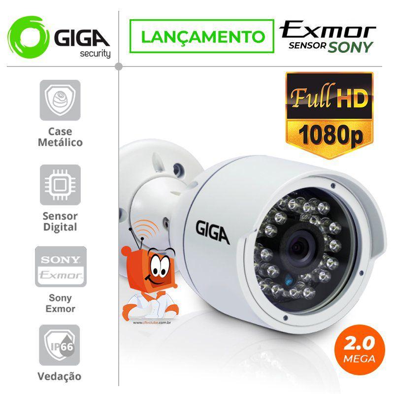 Câmera Giga GS0030 Bullet Open HD Sony Exmor IR 40M UTC DWDR IP66 (2.0MP | 1080p | 1/2.9 - 4mm | Metal)  - CFTV Clube | Brasil