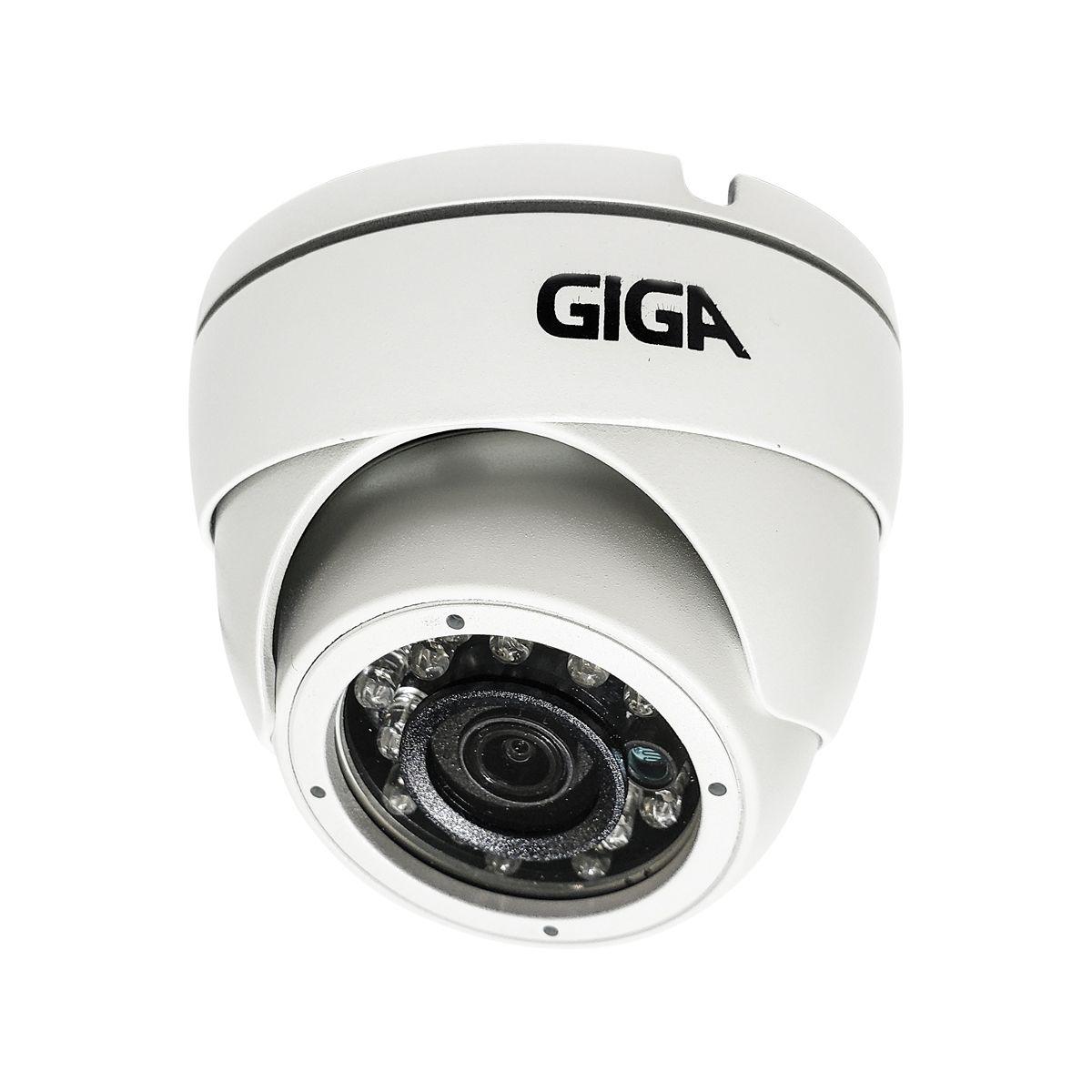 CÂMERA GIGA GS0041 DOME OPEN HD IR 30M (4MP | IP66 | 4MM | PLAST)  - CFTV Clube | Brasil