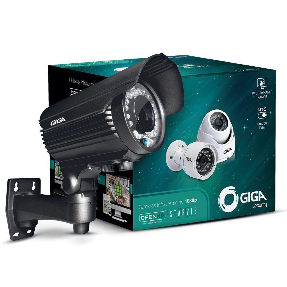 Câmera Giga GS0053 Bullet Varifocal Open HD Sony Starvis 1080P IR WDR 50M IP66 (2.0MP | 1080P | 12MM | Metal)  - CFTV Clube | Brasil