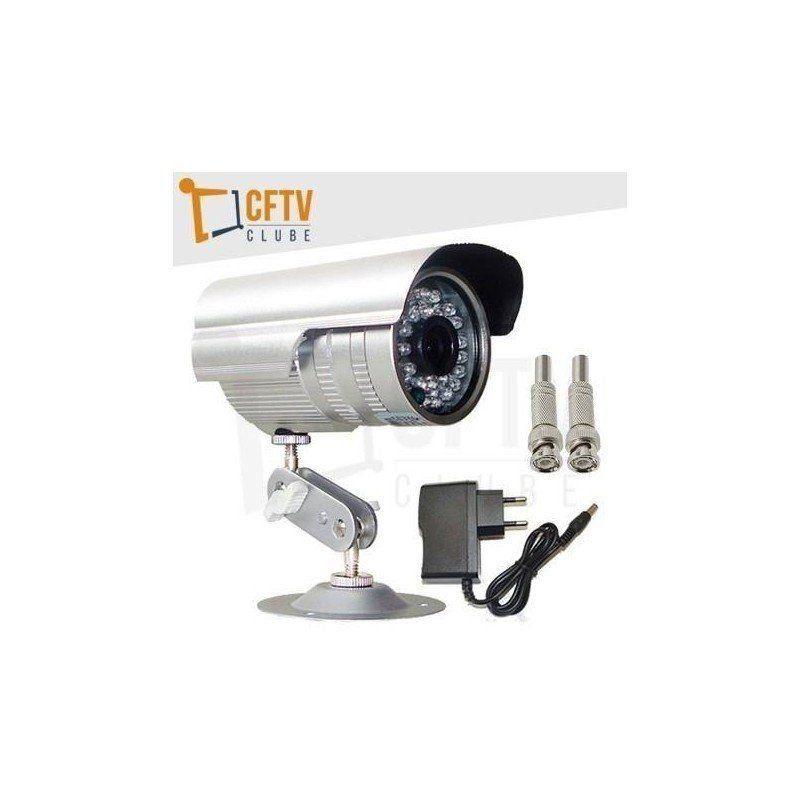 Câmera infravermelho digital 700 linhas + fonte + conectores  - CFTV Clube | Brasil