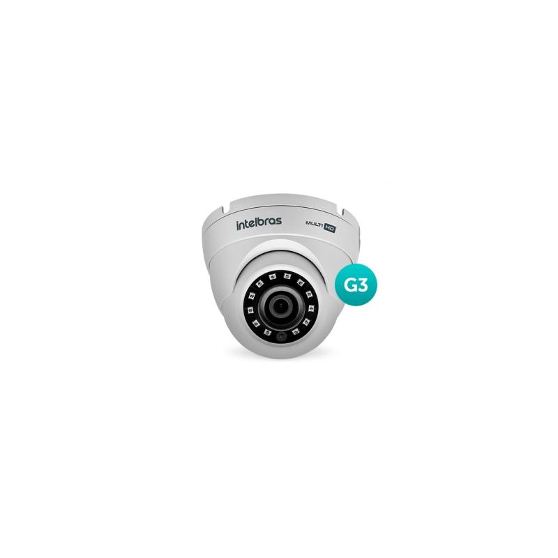 Câmera Intelbras Dome Multi HD 3220D G3 Full HD (2.0MP | 1080p | 3.6mm | Metal)  - CFTV Clube | Brasil