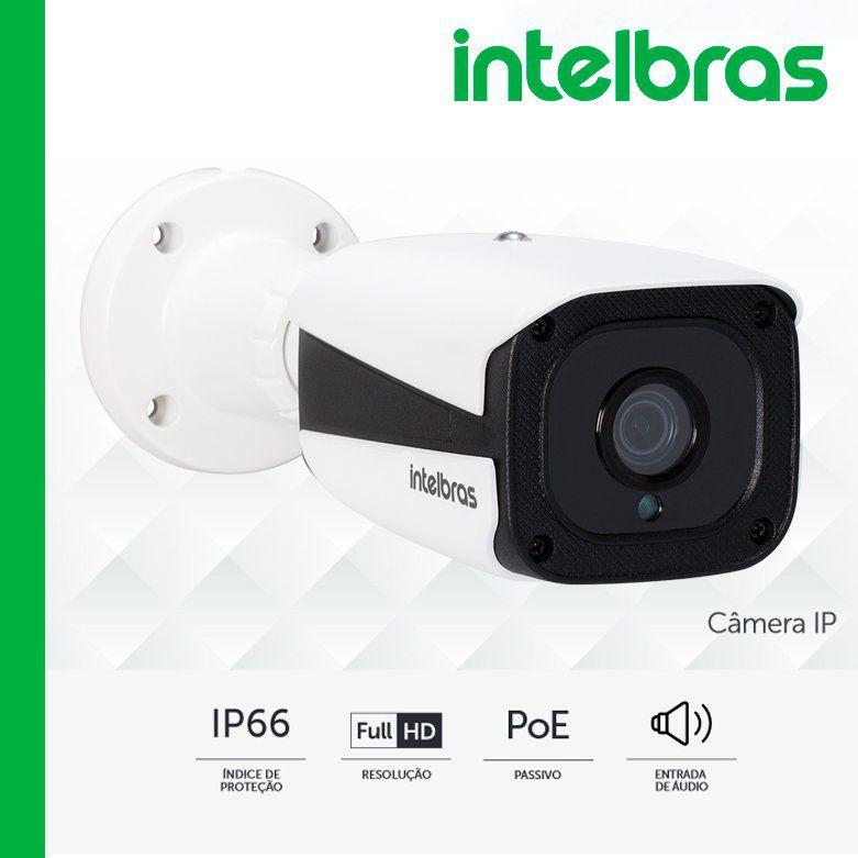 "Câmera IP VIP 1220 B G3 - Bullet Full HD, POE passivo, H.265, entrada de áudio, lente 3.6mm, sensor 1/3"", IR 20 mts - IP66  - CFTV Clube | Brasil"