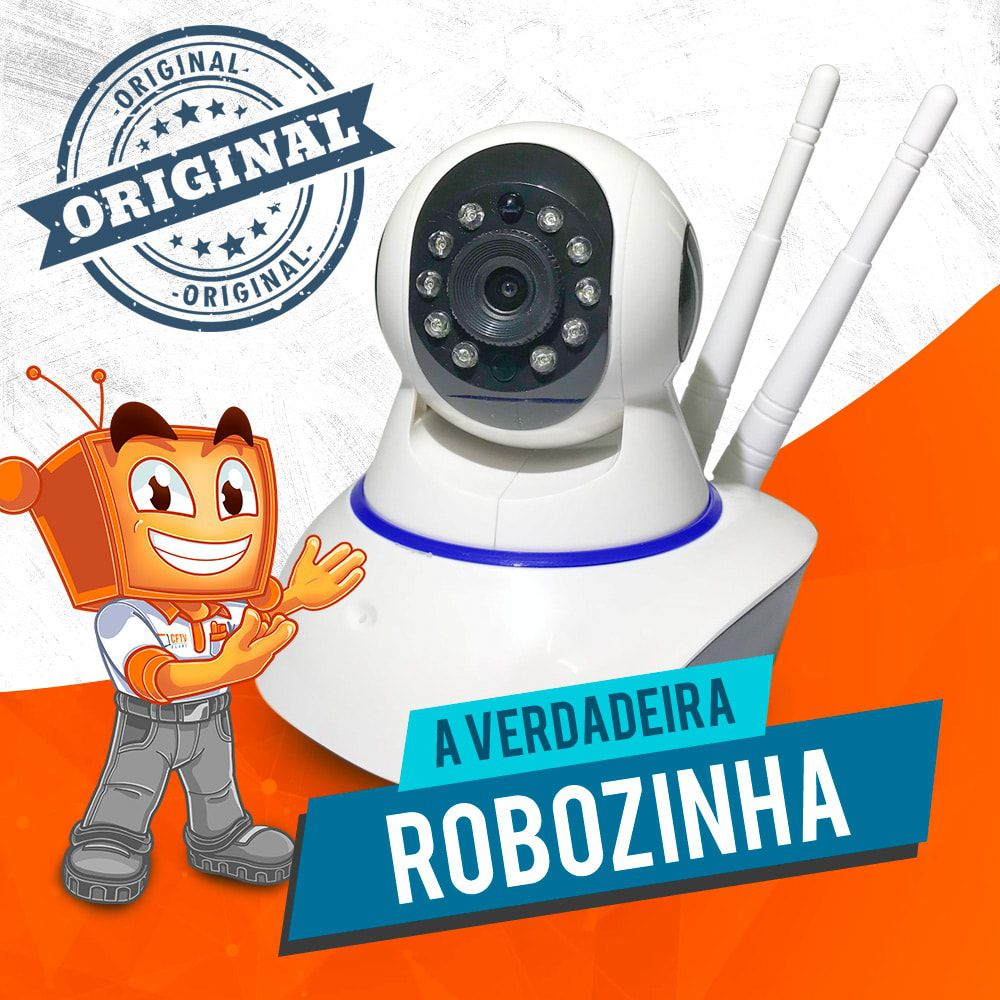 Câmera Robozinha IP Sem Fio Wireless HD - Alta Definição  - CFTV Clube | Brasil