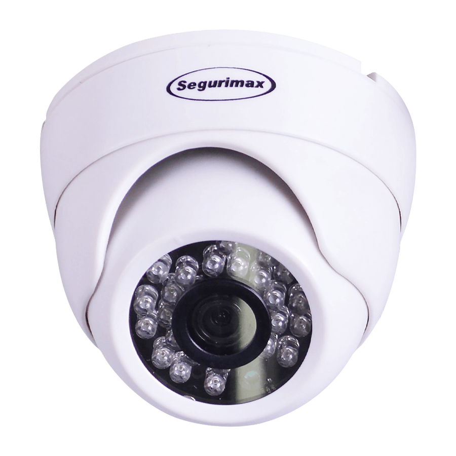 Câmera Segurimax Dome 4 em 1 Full HD Lente Focada (2.0MP | 1080p | 3.6mm | Plástico)  - CFTV Clube | Brasil